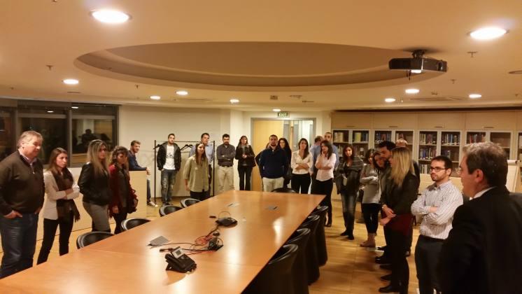 Διάλεξη του Αντιπρόεδρου της Ρυθμιστικής Αρχής Ενέργειας και διδάσκοντος στο Μεταπτυχιακό Πρόγραμμα στην Ενέργεια Μ. Ασλάνογλου στην αίθουσα της Ολομέλειας της Αρχής