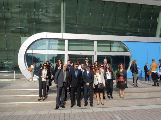 Συμμετέχοντες φοιτητές και καθηγητές του Προγράμματος στο World Future Energy Summit, Abu Dhabi 2015.