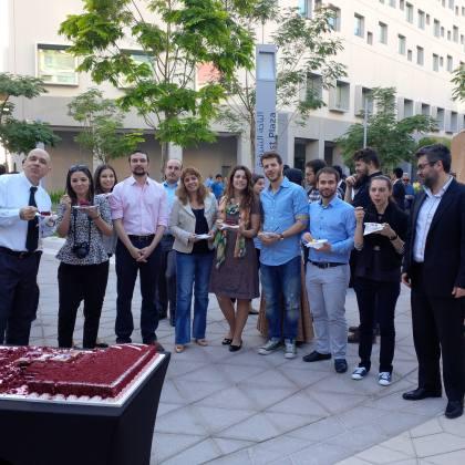 Υποδοχή φοιτητών στο campus του New York University Abu Dhabi, Ιανουάριος 2014